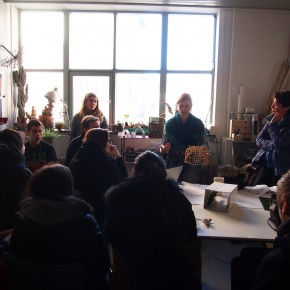 Elever fra Nyborg Gymnasium besøger Camilla Berner
